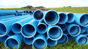 16 inch pipe staged for Madison - Segment 1