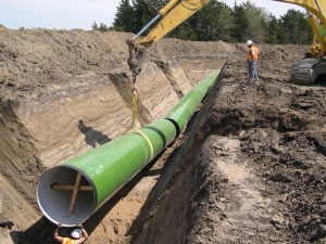 54 inch pipe on Raw Water Pipeline - Segment 2