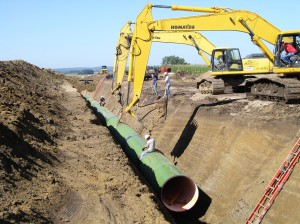 54 inch pipe on Raw Water Pipeline - Segment 3