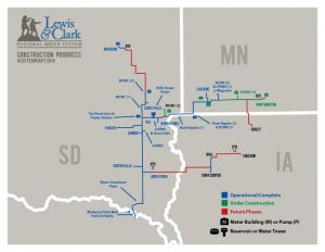 Lewis & Clarke Regional Water System - Construction Progress Map thumbnail