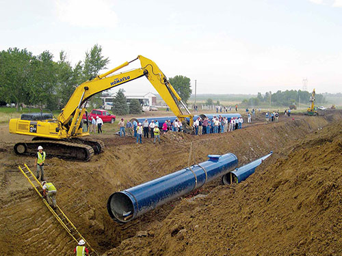 Lewis and Clark Regional Water System | System Construction Image